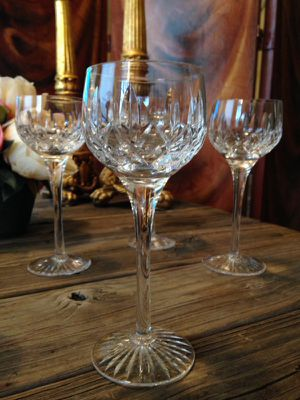 Set of 6 Stuart England vintage antique 1970's wine glasses hocks for Sale in Chicago, IL
