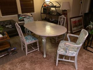 Refinished Queen Anne table with custom chairs. $300 for Sale in Goodyear, AZ