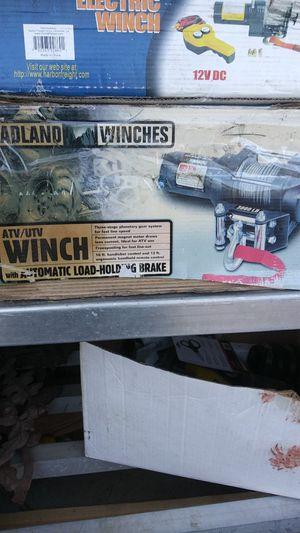 3000lb Winch 3000 lb ATV UTV automatic load for Sale in Perris, CA