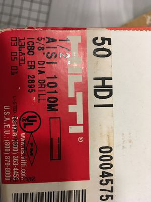 """Hilti 1/2"""" drop in anchors for Sale in Elmwood Park, IL"""