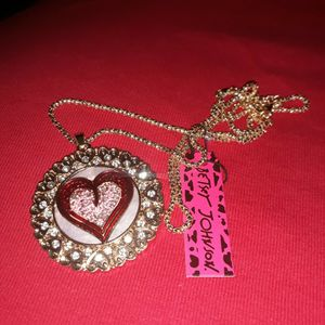 Women's Fashion Heart Necklace by Betsey Johnson for Sale in Oklahoma City, OK