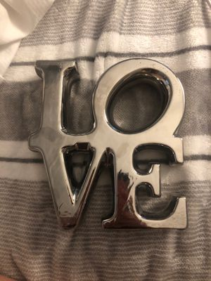 """love"" decor for Sale in Boca Raton, FL"