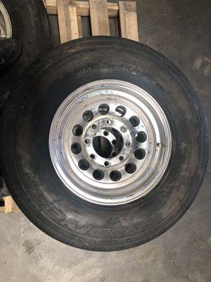 Goodyear G614 trailer tires on aluminum rims for Sale in Sacramento, CA