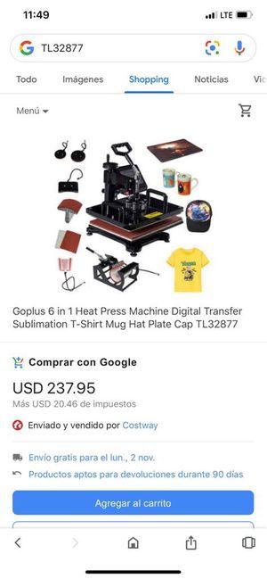 Goplus 6 in 1 Heat Press Machine Digital Transfer Sublimation. Brand New for Sale in Nogales, AZ