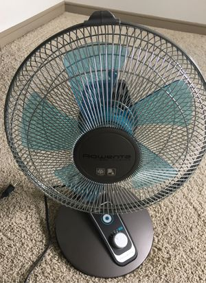 Rowenta VU2531 Turbo Silence Oscillating 12-Inch Table Fan Powerful and Quiet, 4-Speed for Sale in Richardson, TX