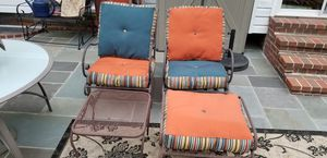Luxury patio furniture chairs ottoman and table for Sale in Aspen Hill, MD