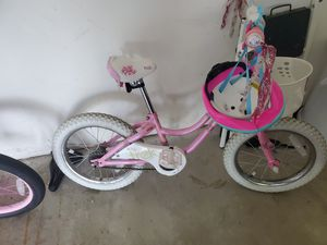 "Trek mystic 16"" bike with training wheels and helmet for Sale in Barrington, IL"
