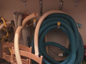 Vaccuum and pool cleaner ! Pool tubing lots of it!! For pool cleaners like new ! Uesd pool cleaner and vacuum for Sale in Pinetop-Lakeside, AZ