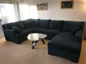 Sectional couch with chaise for Sale in San Diego, CA