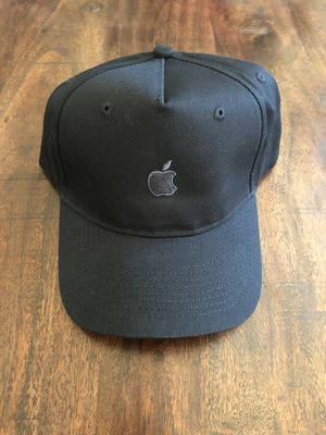 Apple hat, black with space grey embroidered Apple logo. Adjustable fit. for Sale in Beaumont, CA