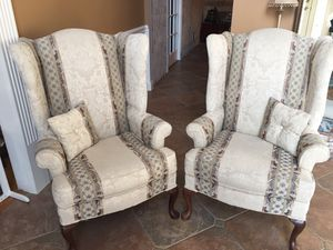 Wing back chairs, very good condition. Hardly used just for show. for Sale in Freehold, NJ