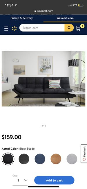 Black futon for Sale in Orlando, FL