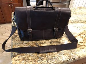 Samsonite leather case laptop bag for Sale in Katy, TX