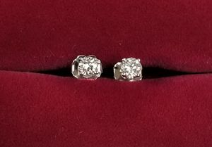 14k White Gold Diamond Stud Earrings 0.39 cts. t.w. for Sale in Hemet, CA