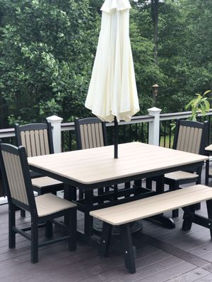 Brand New Amish Poly Farmhouse Outdoor Dining Set for Sale in Leesburg, VA