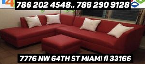 Red sectional couch for Sale in Virginia Gardens, FL