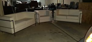 Three-piece leather couches for Sale in Houston, TX