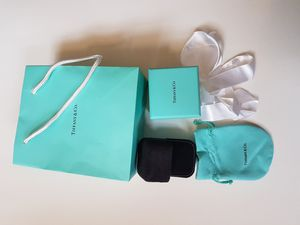 Tiffany & Co. ring box with gift bag, pouch, box, ribbon for Sale in New York, NY