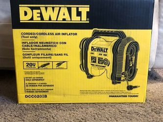 DeWalt 20V Max Corded/Cordless Air Inflator Tool Only DCC020IB for Sale in Philadelphia,  PA