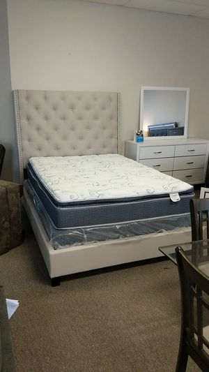 Queen Bed Frame NEW -$349- $40 down take home today!!! for Sale in Virginia Beach, VA