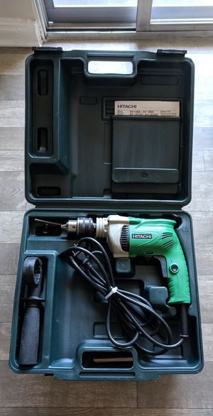 "Hitachi DV 16SS 5.4 Amp 5/8"" Corded Hammer Drill - Like New - Includes depth gauge, handle, chuck key, and carrying case for Sale in Las Vegas, NV"