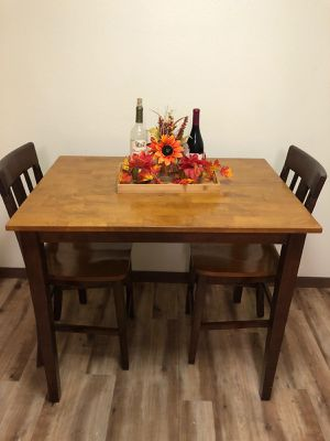 Wooden table with two chairs for Sale in Mill Creek, WA