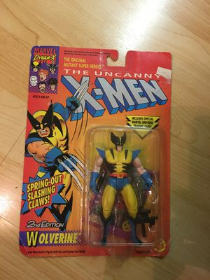 X-men Wolverine action figure 2nd edition toy biz 1992 marvel for Sale in Oakley, CA