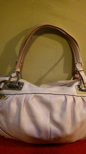 "Large ""B. Makowsky"" Peach/Pink leather handbag for Sale for sale  New York, NY"