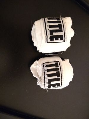 White title boxing hand wraps for Sale in Arlington, TX