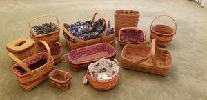 Longaberger basket collection for Sale in Freehold, NJ