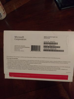 Windows 10 pro 64 bit for Sale in Cleveland, OH