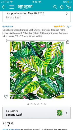 Tropical shower curtain for Sale in South Miami, FL
