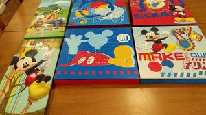 Six pictures of Mickey mouse and friends to hang on your wall for Sale in Hazelwood, MO
