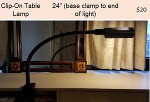Clip on lamp for Sale in Cambridge, MA