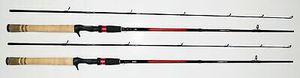 "2 Shimano Sojourn SJC66M2B 6'6"" Medium 2 Pieces Casting 4 baitcaster baitcast fishing rod for Sale in Litchfield Park, AZ"