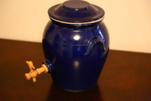 Rare Ceramic Jug with Wooden Dispenser for Sale in Knoxville, TN