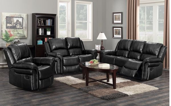 Brand new leather recliner sofa with love seat $1200 recliner chair $350