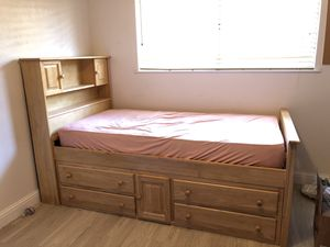 Captain's Bed - twin size, solid wood for Sale in Visalia, CA
