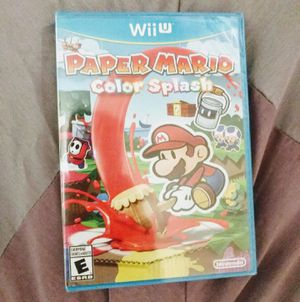 NINTENDO Wii u paper mario color splash for Sale in Sacramento, CA