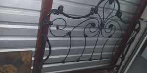 Metal bed frame headboard and mattress and spring for Sale in Pueblo, CO