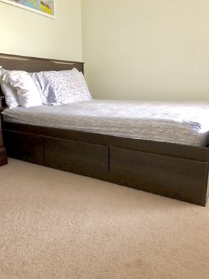 Full bed frame with 6 drawers attached. Almost new in condition. for Sale in Scarborough, ME