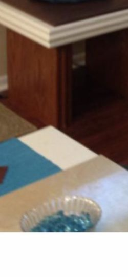 Free White And Oak Coffee Table And Matching End Table for Sale in Douglasville,  GA