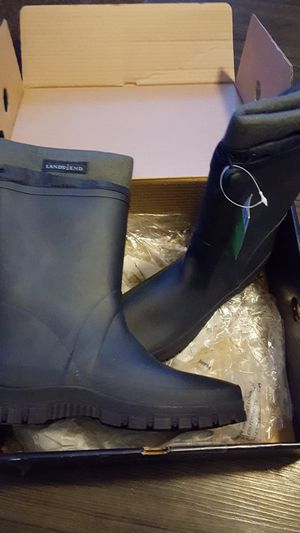Lands End Youth Insulated Rain Boots for Sale in Port Washington, WI