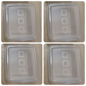 4 x plastic container storage bin with lid NEW crafts food case for Sale in Los Angeles, CA