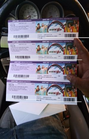 Tickets for great america for Sale in Hayward, CA