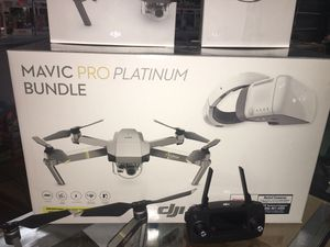 Mavic Pro Platinum Drone with goggles bundle for Sale in Puyallup, WA