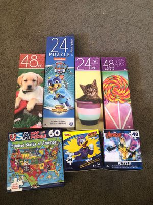 Puzzles, kids, boys, girls, games for Sale in Lincoln Acres, CA