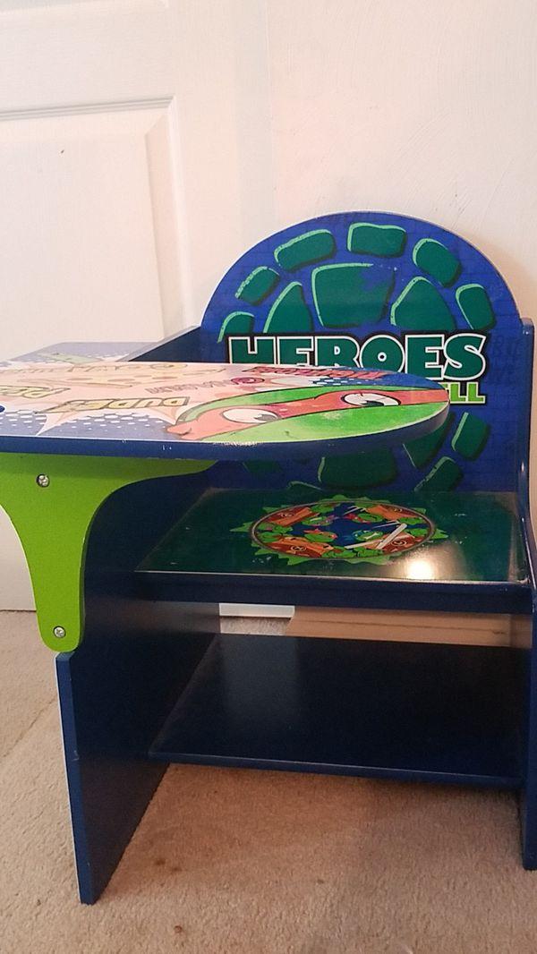 Kids desk-Turtle Power