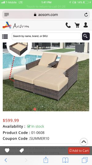 Wicker outdoor lounger for Sale in Portland, OR