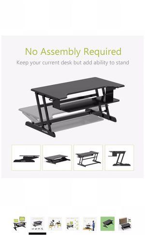 Standing desk converter riser adjustable for Sale in Palo Alto, CA